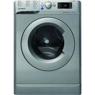 Indesit BWE91483XSUKN 9kg 1400rpm Freestanding Washing Machine - Silver