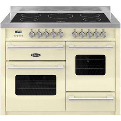 Britannia Delphi 110 XG Electric Induction Range Cooker - Gloss Cream & Stainless Steel