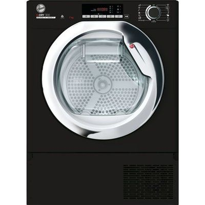 Hoover BATDH7A1TCEB Integrated Wifi Connected 7Kg Heat Pump Tumble Dryer - Black