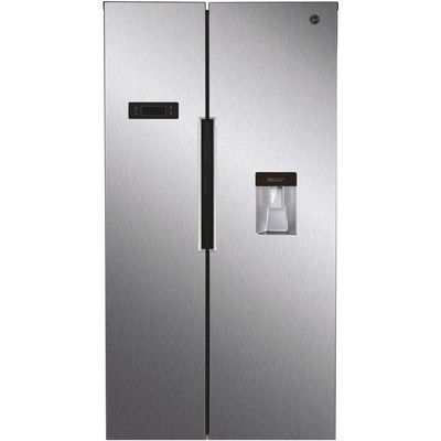 Hoover HHSBSO6174XWDK H-COOL American Style Side-by-side Fridge Freezer With Ice & Water Dispener - Stainless Steel