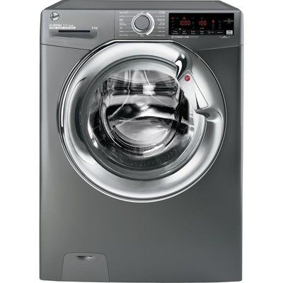 Hoover H-Wash 300 H3WS68TAMCGE NFC 8 kg 1600 Spin Washing Machine - Graphite