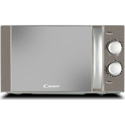 Candy CMW20MSS-UK Compact Solo Microwave - Silver