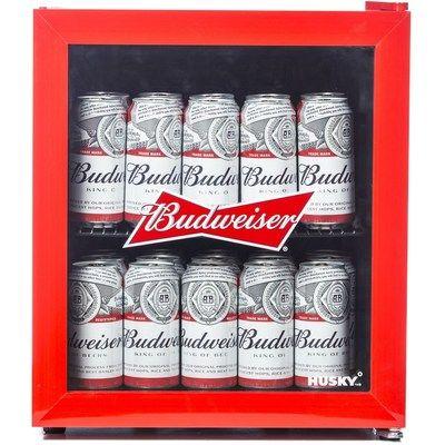 Husky HU225 Mini Fridge/Drinks Cooler - Budweiser