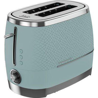 Beko TAM8202T Cosmopolis 2 Slice Toaster - Teal & Chrome