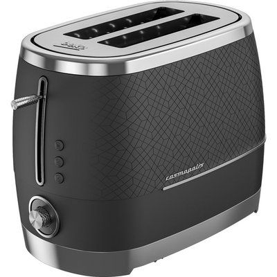 Beko Cosmopolis TAM8202B 2-Slice Toaster - Black & Chrome