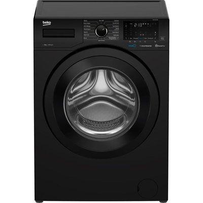Beko WEX840530B Bluetooth 8 kg 1400 Spin Washing Machine - Black