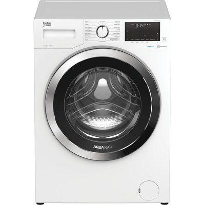 Beko Aquatech WEX94064E0W Bluetooth 9kg 1400 Spin Washing Machine - White