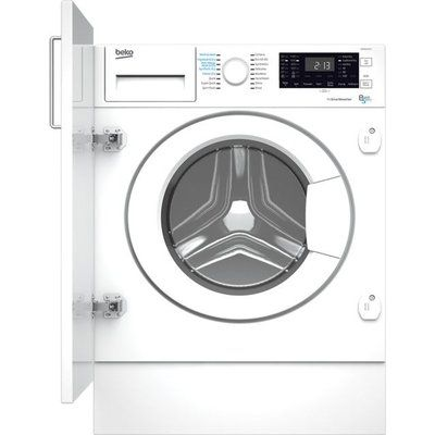 Beko WDIK854121F Built In Washer Dryer - White