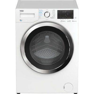 Beko Ultrafast WDEX854044Q0W Bluetooth 8 kg Washer Dryer - White
