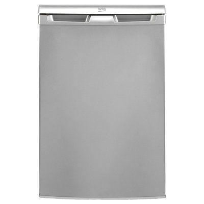 Beko UR4584S Under Counter Freestanding Fridge With Icebox - Silver