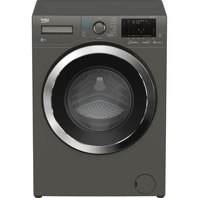 Beko Ultrafast WDEX854044Q0G Bluetooth 8 kg Washer Dryer - Graphite