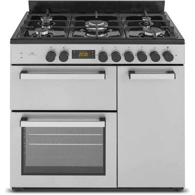 New World NW90DF3ST 90cm Triple Cavity Dual Fuel Range Cooker - Stainless Steel