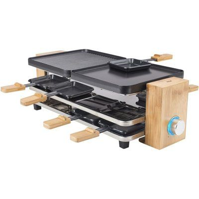 Princess Raclette Pure 8 Grill - Black & Bamboo