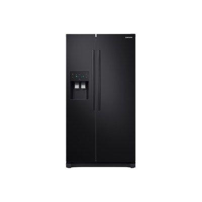 Samsung RS50N3413BC 501 Litre American Style Fridge Freezer Frost Free Ice Dispenser 2 Door 91cm Wide - Black