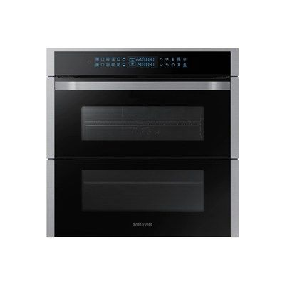 Samsung NV75R7676RS Dual Cook Flex Pyrolytic Built-in Single Oven - Stainless Steel