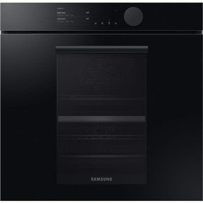 Samsung Infinite NV75T8579RK Wifi Connected Built In Electric Single Oven with added Steam Function - Onyx Black