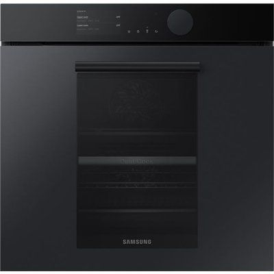 Samsung Infinite NV75T9579CD Wifi Connected Built In Electric Single Oven with added Steam Function - Satin Grey