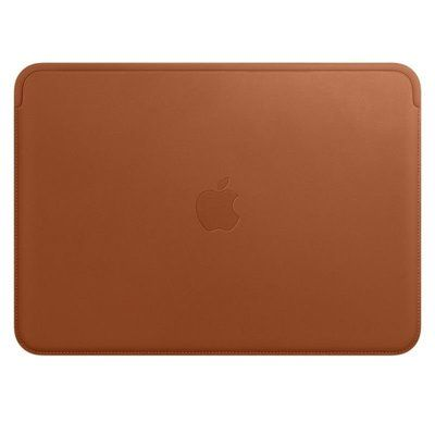 Apple Leather Sleeve for 12 MacBook Saddle Brown