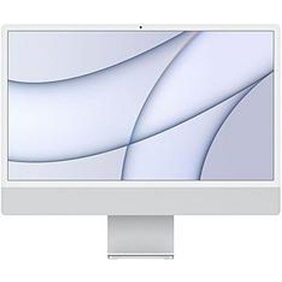 "Apple iMac 24"" With Retina 4.5K Display, 8-Core CPU And 8-Core GPU, 512GB Storage - Silver"