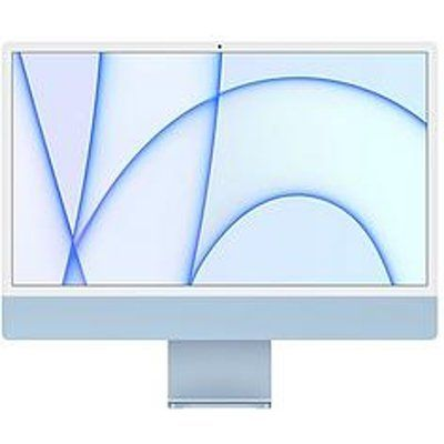 "Apple iMac 24"" With Retina 4.5K Display, 8-Core CPU And 8-Core GPU, 512GB Storage - Blue"