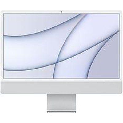 "Apple iMac 24"" With Retina 4.5K Display, 8-Core CPU And 7-Core GPU, 256GB Storage - Silver"