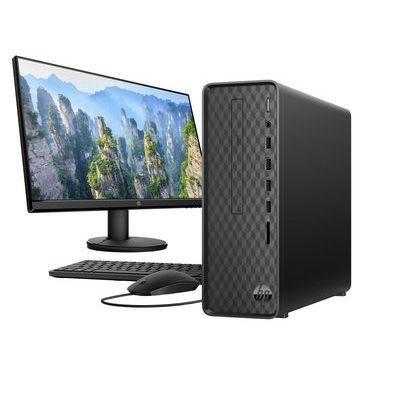 HP Pentium 4GB 1TB Desktop PC & V24i Monitor Bundle