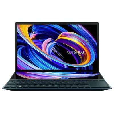 """Asus Zenbook Duo 14 Core i7-1165G7 16GB 512GB SSD 14"""" FHD Touchscreen GeForce MX 450 2GB Windows 10 Dual Screen Laptop"""