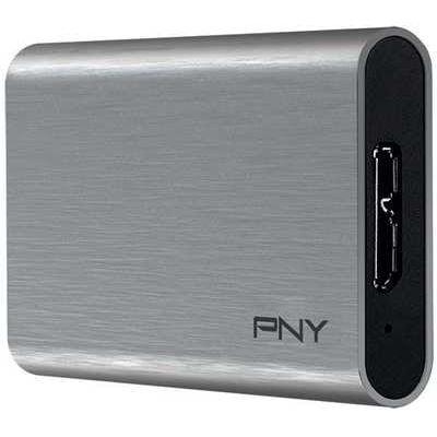 PNY Elite Portable 240 GB External SSD - Silver