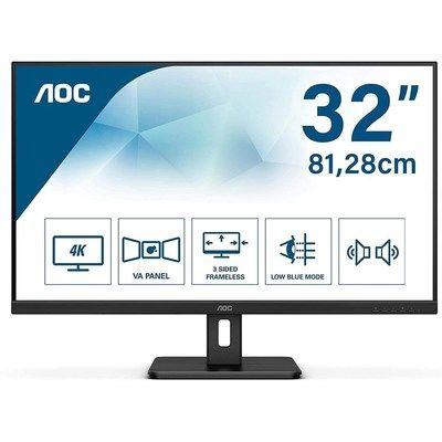 AOC U32E2N 31.5 4K Ultra HD VA Monitor