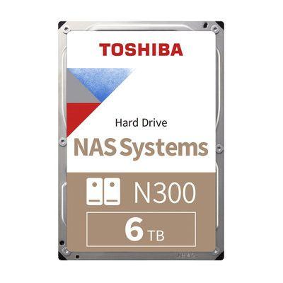 Toshiba N300 6TB High-Reliability NAS Hard Drive