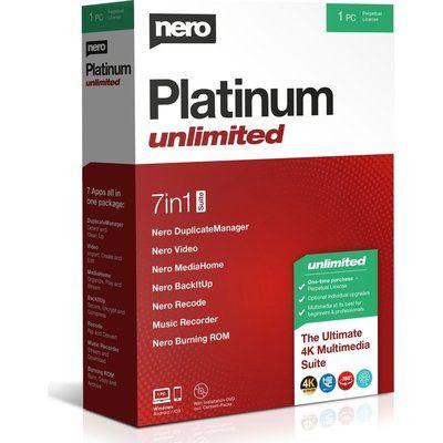 Nero Platinum Unlimited 2020 - Lifetime for 1 user