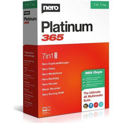 Nero Platinum 365 2020 - 1 year for 1 user