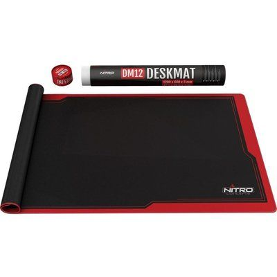 Nitro Concepts DM12 Deskmat Gaming Surface, 1200 x 600 mm - Red