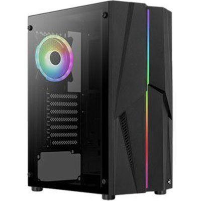 Aerocool Mecha ARGB Black Mid Tower Tempered Glass PC Gaming Case