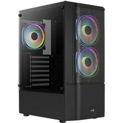 Aerocool Quantum Mesh Black Mid Tower Tempered Glass PC Gaming Case