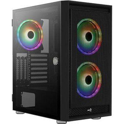 Aerocool Graphite ARGB Mid Tower Tempered Glass PC Gaming Case