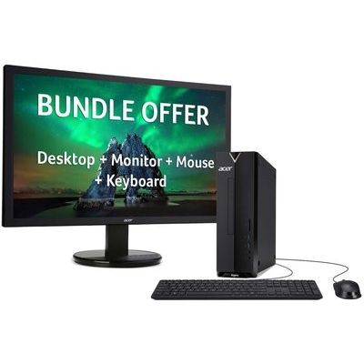 Acer Aspire XC-340 Athlon 4GB 1TB Desktop & Monitor Bundle