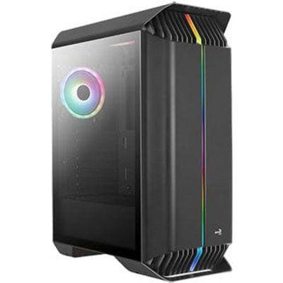 Aerocool Gladiator Black Mid Tower Tempered Glass PC Gaming Case