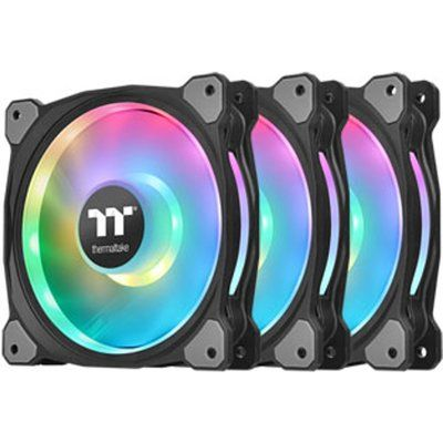 Thermaltake Riing Duo 3-Pack 120mm ARGB Fan with Fan Controller Works