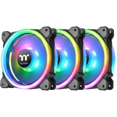 Thermaltake Riing Trio 14 RGB 140mm Fans with RGB Controller- 3 Pack