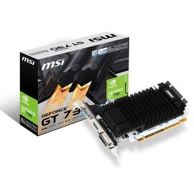 Msi GeForce Gt 730 2GB DDR3 Vga Dual-Link Dvi-D Hdmi Pci-E Graphics Card