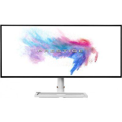 """MSI Prestige PS341WU 4K Ultra HD 34"""" Curved IPS LCD Monitor - White"""
