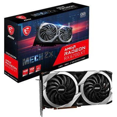 Msi Radeon Rx 6700 Xt Mech 2X 12GB Oc Graphics Card