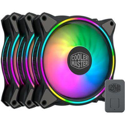 Cooler Master MF120 Halo 120mm Black ARGB Fan 3-Pack