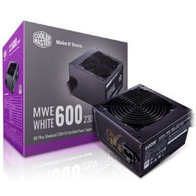 Cooler Master MWE White 600W v2 PSU / Power Supply Black