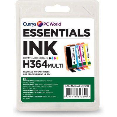Essentials HP364 Cyan & Black HP Ink Cartridges - Multipack, Cyan