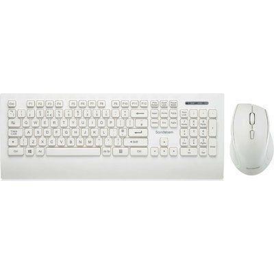 Sandstrom SDESWLW19 Wireless Keyboard & Mouse Set - White