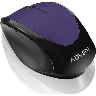 Advent AMWLPP19 Wireless Optical Mouse - Purple & Black