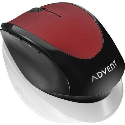 Advent AMWLRD19 Wireless Optical Mouse - Red & Black