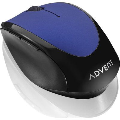 Advent AMWLBL19 Wireless Optical Mouse - Blue & Black